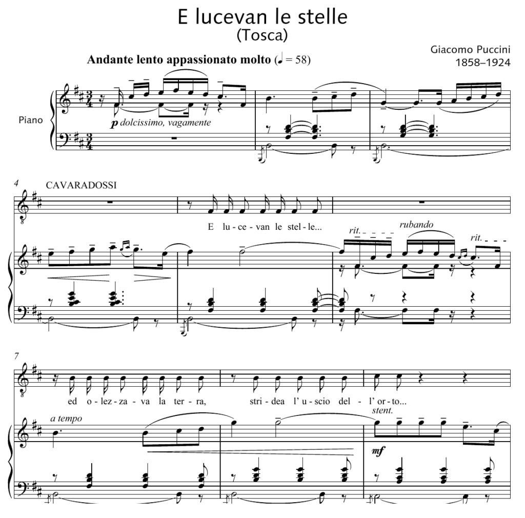 E Lucevan le stelle